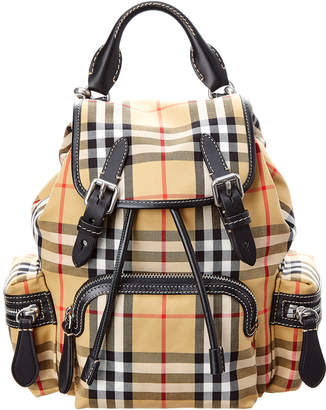Burberry Vintage Check Canvas & Leather Rucksack