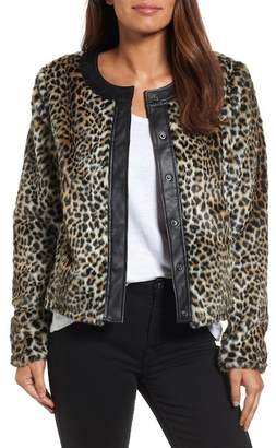 KUT from the Kloth Courtney Faux Leopard Fur Jacket