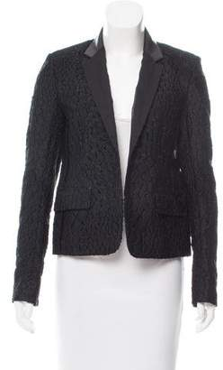 Reed Krakoff Leather-Trimmed Fil Coupé Blazer w/ Tags