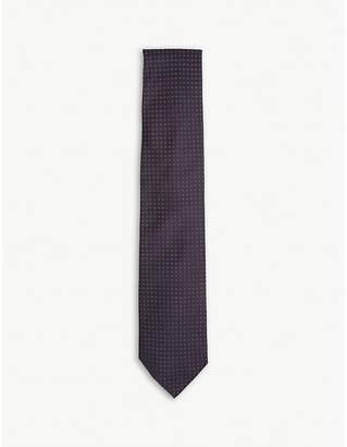 Corneliani Flower pindot silk tie