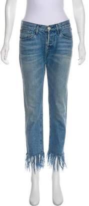 3x1 Mid-Rise Fringe Jeans