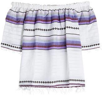 Lemlem Off-Shoulder Cotton Blouse
