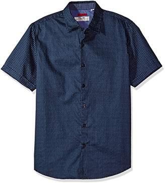 ProjekRaw Projek Raw Men's Short Sleeve Woven Shirt 100% Cotton