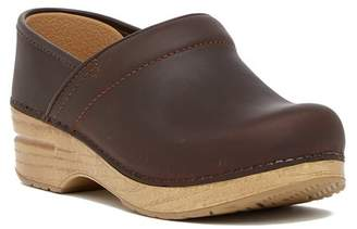 Dansko Professional Wedge Platform Leather Clog