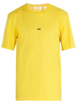 Helmut Lang Taxi Print Cotton Jersey T Shirt - Mens - Yellow