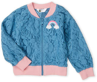 Petit Lem Toddler Girls) Rainbow Lace Bomber Jacket