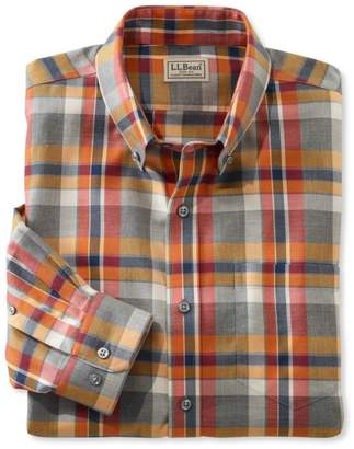 L.L. Bean L.L.Bean Wrinkle-Free Heathered Sport Shirt, Slightly Fitted
