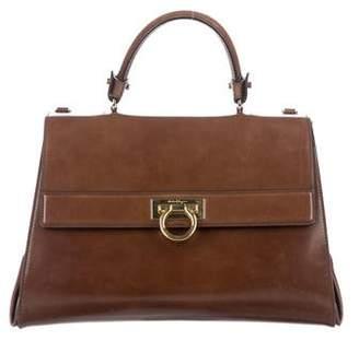 Salvatore Ferragamo Patent Leather Sofia Satchel