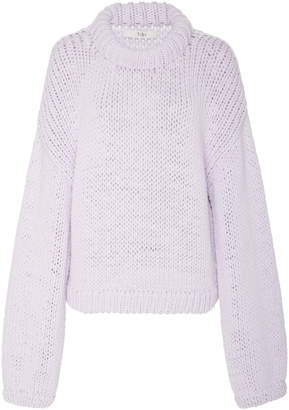 Tibi Solid Cropped Pullover