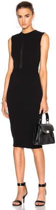 Victoria Beckham Double Crepe Sleeveless Sheer Inset Dress