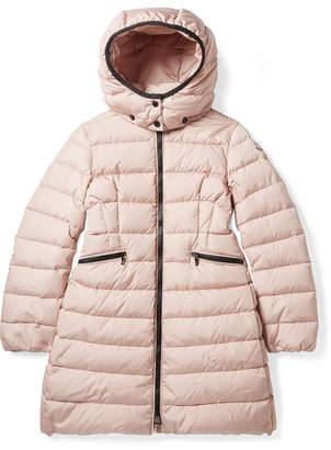 Moncler Ages 8 - 10 Charpal Hooded Quilted Shell Down Coat