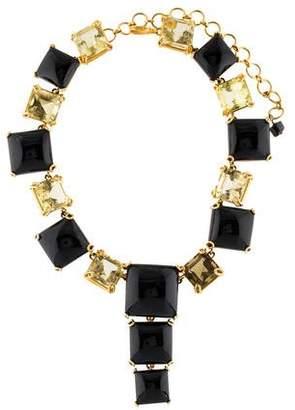 Bounkit Citrine & Onyx Collar Necklace