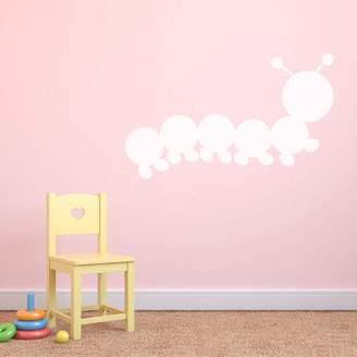 Supertogether Small Version 2 Caterpillar Dry Wipe Whiteboard Childrens Bedroom Playroom Wall Sticker, White