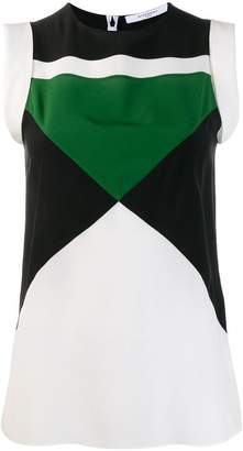 Givenchy geometric panelled sleeveless top