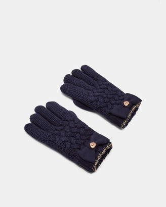 Ted Baker HHILARY Cable knit gloves