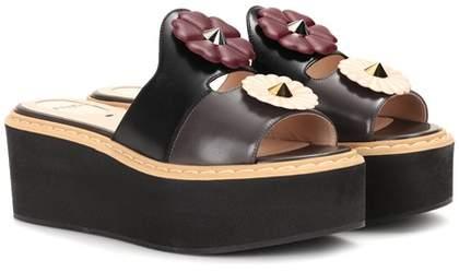 Fendi Embellished platform sandals