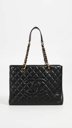 Chanel What Goes Around Comes Around Black Caviar Tote