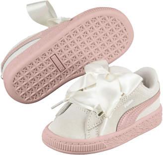 Suede Heart Jewel Girls' Sneakers