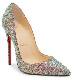Christian Louboutin Classique So Kate 120 Glitter Dragonfly Pumps $695 thestylecure.com