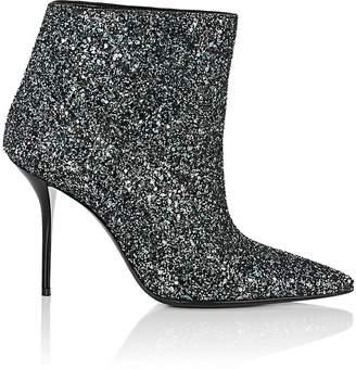 Saint Laurent Women's Pierre Glitter Ankle Boots