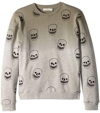 Stella McCartney Biz Ombre Sweatshirt w/ All Over Skulls Girl's Sweatshirt