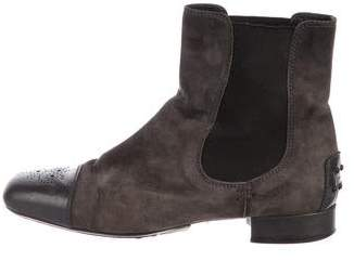 Tod's Cap-Toe Ankle Boots