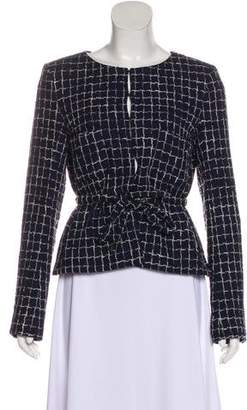 Chanel Belted Tweed Jacket