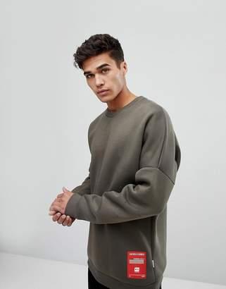 Jack and Jones Core Sweatshirt With Drop Shoulder In Neoprene Jersey