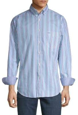 Paul & Shark Striped Cotton Button-Down Shirt