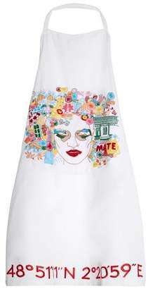 Kilometre Paris - Lima Embroidered Cotton Apron - Womens - White Multi