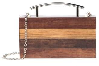 Pink Haley Teagan Top Handle Wood Clutch