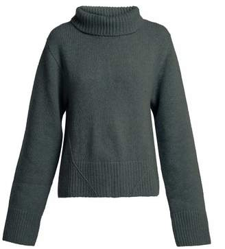 Wallis Khaite Roll Neck Cashmere Sweater - Womens - Green