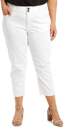 Essential Crop Jean White