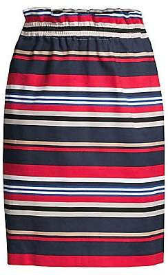 Donna Karan Women's Striped Pull-On Skirt