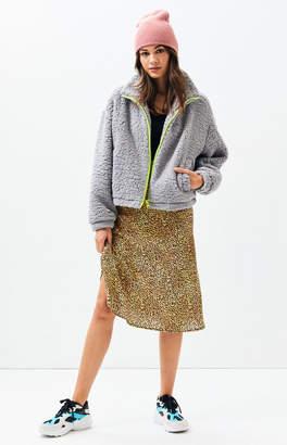 LA Hearts Gray Sherpa Jacket