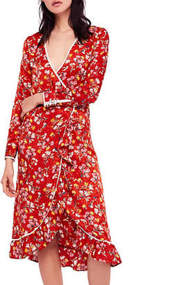 Free People Covent Garden Wrap Midi Dress
