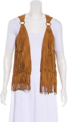 Camilla Leather Fringe Dress