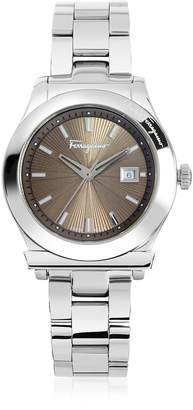 Salvatore Ferragamo 1898 Silver Tone Stainless Steel Women's Watch