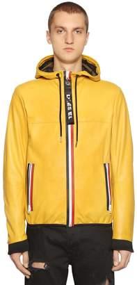 Diesel Hooded Nappa Leather Jacket
