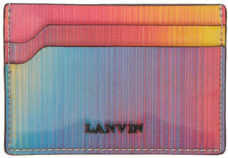 Lanvin Multicolor Iridescent Card Holder