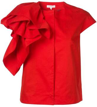 DELPOZO ruffle shortsleeved jacket