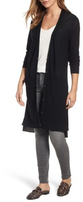 Women's Halogen Merino Blend Long Cardigan $89 thestylecure.com