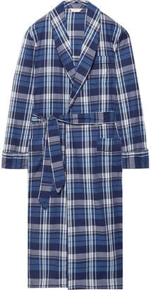 Derek Rose Ranga 31 Checked Cotton Robe
