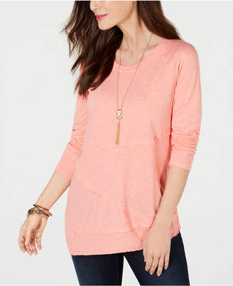 Style&Co. Style & Co Ragged-Seam T-Shirt
