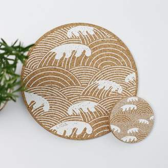 Graham and Green Cork Wave Placemats and Coasters
