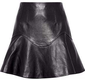 Alexander Wang Fluted Leather Mini Skirt