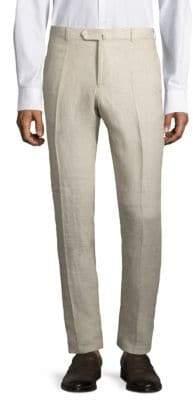 Isaia Regular-Fit Linen Pants