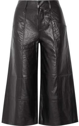 Frame Leather Culottes - Black