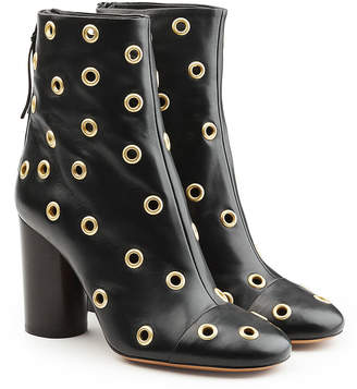 Isabel Marant Leather Ankle Boots with Eyelets