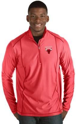 Antigua Men's Chicago Bulls Tempo Quarter-Zip Pullover